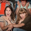 Screaming Friends in Theater — Stock Photo #40924815