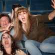 Overreacting Teen in Theater — Stock Photo