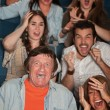 Stock Photo: Horrified Audience