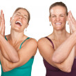 Stock Photo: Happy YogWomen