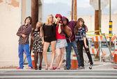 Young punky teen group photo — Zdjęcie stockowe