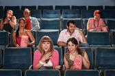 Laughing Audience In Theater — Stock Photo