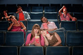 Bored People In Theater — Stock Photo