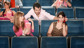 Obnoxious Man in Theater — Stock Photo