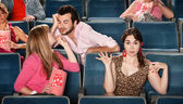 Flirting in The Theater — Stockfoto
