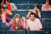 Rude Lady In The Audience — Stock Photo