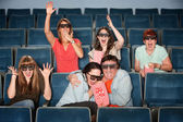 Emotional Theater Audience — Stock Photo