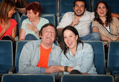 Happy People In Theater — Photo