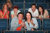 Frightened Audience — Stock Photo
