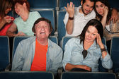Man Weeps In Theater — Stock Photo