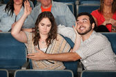 Aggressive date in Theater — Stock Photo