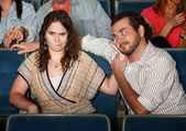 Annoyed Girlfriend In Theater — Stock Photo