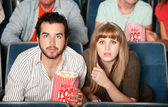 Couple Staring in Theater — Stock Photo