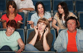 Disturbed Audience — Stock Photo
