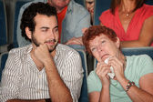 Woman Weeps in Theater — Stock Photo