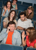 Irked Audience — Stock Photo