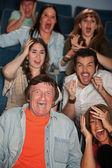 Horrified Audience — Stock Photo