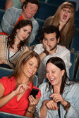 Bothered Audience In Theater — Stock Photo