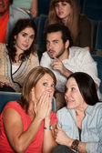 Moviegoers in Suspense — Stock Photo