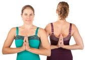 Women In Namaskar Posture — Stock Photo
