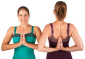 Ladies In Namaskar Posture — Stock Photo