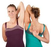 Shoulder Stretching Exercise — Stock Photo