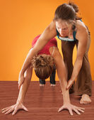Woman Practicising Yoga — Stock Photo