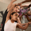 Stock Photo: Ballet Students Exercising