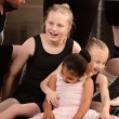 Girls Laughing at Ballet Class — Stock Photo #40944411