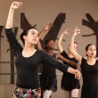 Stock Photo: Lovely Ballet Students Practice