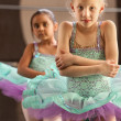 Shivering Ballerinas — Stock Photo #40944643