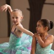 Ballet Students Helping Each Other — Stock Photo