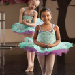 Cute Ballerinas Rehearsing — Stock Photo #40944735