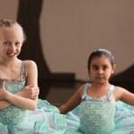Smiling Pretty Ballet Girls — Stock Photo