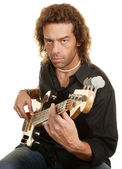 Serious Guitar Player — Stock Photo