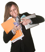 Woman Multi-Tasking — Stockfoto