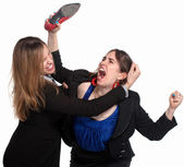 Female Workers Fighting — Stock Photo