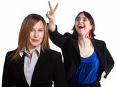 Rabbit Ears Gesture — Stock Photo