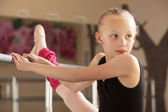 Ballet Student Looks Over — Stock Photo