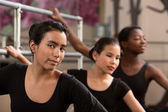 Three Ballet Students — Stock Photo