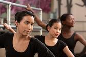 Three Ballet Students — Stok fotoğraf