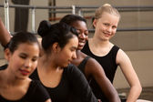 Cute Group of Ballet Students — Stok fotoğraf