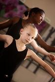 Two Cute Ballet Students — Zdjęcie stockowe