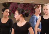Ballet Teacher with Students — Stock Photo