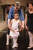 Instructor with Young Dancer — Stock Photo