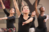 Four Dancers Rehearsing — Stock Photo