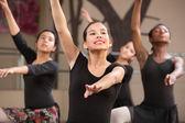 Four Dancers Rehearsing — Stok fotoğraf