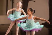 Cute Ballet Students Twirling — Stock Photo