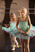 Two Ballerinas Standing — Foto de Stock