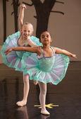 Ballerinas Pose Together — Stock Photo